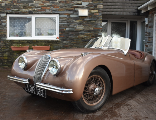 Car enthusiast auctions his beloved 1951 Jaguar XK120 roadster he bought at age 19 in 1969